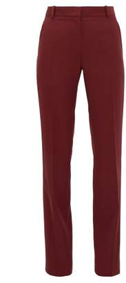 Pallas X Claire Thomson-jonville - Fulham High-rise Cotton Trousers - Womens - Burgundy