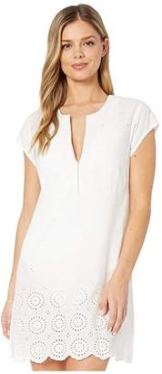 Bleu Rod Beattie I've Got An Eye For You Embroidered Sheath Dress Cover-Up (White) Women's Swimwear