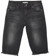 Tractr Girl's Raw Hem Denim Capri Pants