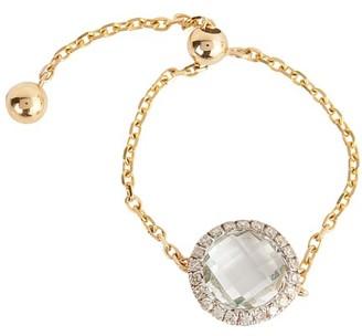Anissa Kermiche Gold chain ring