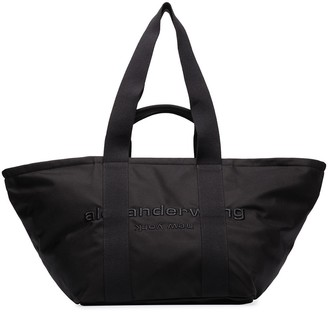 Alexander Wang large Primal logo-embroidered tote bag