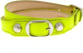 Balenciaga Classic Metallic-Edge leather wraparound bracelet