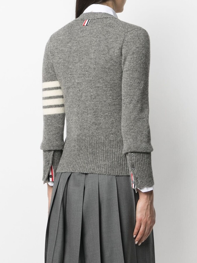 Thumbnail for your product : Thom Browne 4-Bar wool cardigan