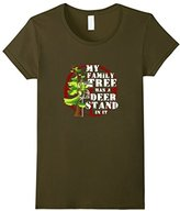Women's My Family Tree Has a Deer Stand In It T-Shirt Large