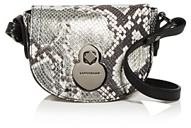 Longchamp Cavalcade Extra Small Snake-Embossed Leather Crossbody