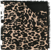 Marc Jacobs dotted leopard print stole - women - Wool/viscose - One Size