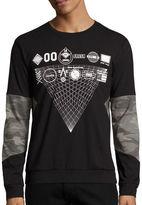 URBAN NATION Urban Nation Long-Sleeve Camo-Print Burnout Shirt