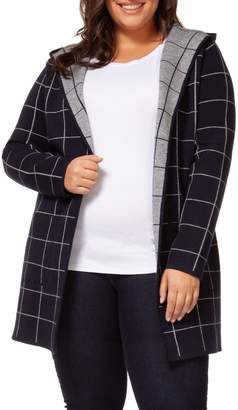 Dex Plus Printed Hooded Cotton-Blend Cardigan