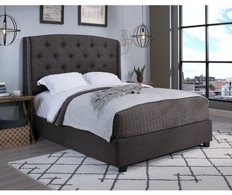 Alcott Hillâ® Strahan Upholstered Bed Alcott HillA Size: King, Color: Gray