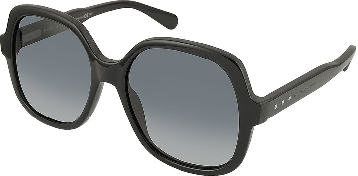 Thumbnail for your product : Marc Jacobs MJ 589/S 807HD Rounded Square Black Oversized Acetate Women's Sunglasses