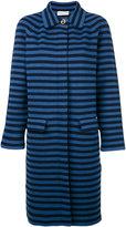 Sonia Rykiel striped midi coat - women - Cotton/Polyester - M