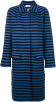 Sonia Rykiel striped midi coat - women - Cotton/Polyester - S