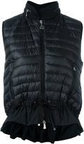Moncler hooded padded front gilet - women - Cotton/Feather Down/Polyamide/Polyester - S