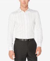 Perry Ellis Men's Big & Tall Solid White Linen Shirt