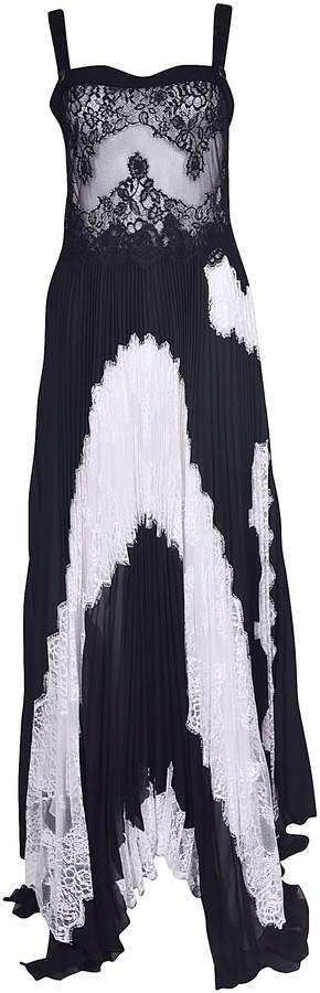 Givenchy Lace Top Pleated Dress