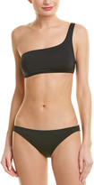 Proenza Schouler 2Pc One-Shoulder Bikini Set