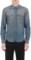 Maison Margiela Men's Denim Western-Style Shirt-LIGHT BLUE, BLUE