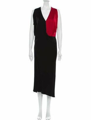 Zero Maria Cornejo V-Neck Long Dress Black
