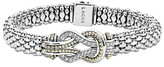 Thumbnail for your product : Lagos Sterling Silver and 18K Gold Newport Diamond Caviar Bracelet