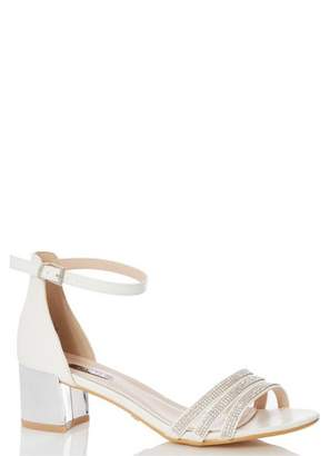Dorothy Perkins Womens *Quiz Bridal Diamante Strap Heeled Sandals