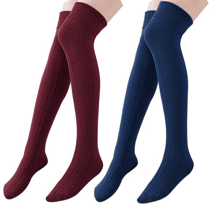 df824440a3e Red Over The Knee Socks - ShopStyle Canada
