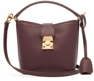 Mark Cross Murphy Mini Leather Bucket Bag - Womens - Burgundy