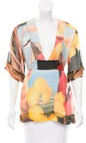 Stella McCartney Digital Print Silk Top