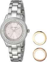Ted Baker Women's TE6003 Interchangeable Bezel Stainless Steel Watch