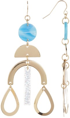Free Press Geo & Lucite Chandelier Drop Earrings