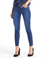 Gap AUTHENTIC 1969 embroidered true skinny ankle jeans