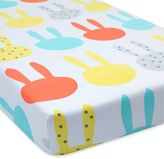 Greenbuds Snuggle Bunnies Organic Cotton Fitted Crib Sheet in Multicolor