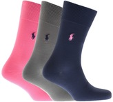 Ralph Lauren 3 Pack Socks Blue