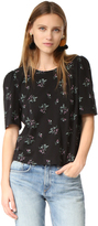 Rebecca Taylor Short Sleeve Antique Floral Tee