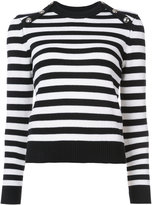 Michael Kors striped top - women - Cotton/Cashmere - S