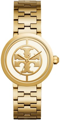 Tory Burch Reva Watch, Gold-Tone Stainless Steel/Ivory, 36 MM