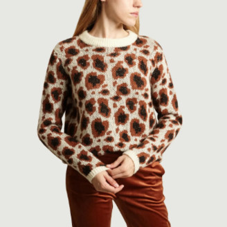 La Petite Francaise Brown Mohair Wool and Nylon Praline Sweater - S/M | nylon | mohair wool | brown - Brown/Brown