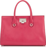 Jimmy Choo RILEY Dahlia Soft Grained Goat Leather Tote Bag