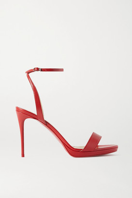 Christian Louboutin Loubi Queen 100 Leather Sandals - Red