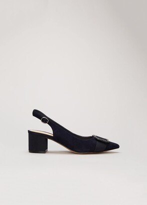 Phase Eight Gilly Block Heel Court Shoe