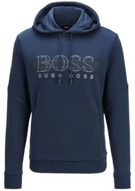 HUGO BOSS Hooded Sweatshirt With Reflective Details - Dark Blue