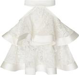 David Koma Cutout Layered Lace Skirt