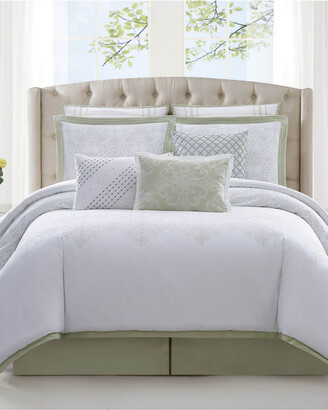 Charisma Belaire Cotton Eyelet 4Pc Duvet Cover Set