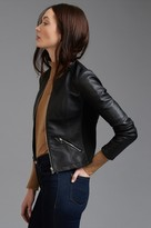 Dynamite Faux Leather Jacket with Zips