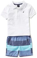 Nautica Baby Boys 12-24 Months Short-Sleeve Polo Shirt & Shorts Set