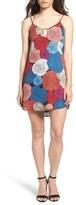 Socialite Bar Detail Print Camisole Shift Dress