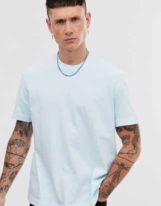 AllSaints oversized t-shirt in aqua blue