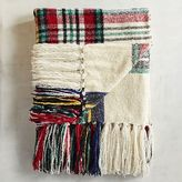 Pier 1 Imports Stewart Plaid Ivory Chenille Throw