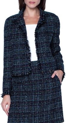 Akris Punto Tweed Stand-Collar Jacket