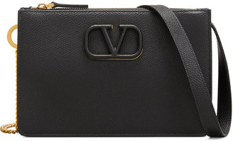 Valentino VSLING Grain Leather Pouch Bag