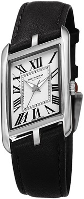 Bruno Magli Sofia 1421 Stainless Steel & Leather-Strap Watch
